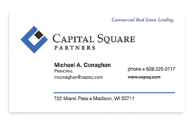 Capital Square business card.