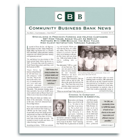 Community Business Bank Newsletter.