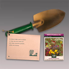 MCC golden shovel plant in direct mailer.