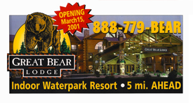 Great Bear Lodge Billboard.
