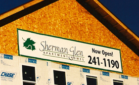 Sherman Glen Construction Banner.