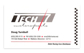 Tech 7 Motorsports business card.